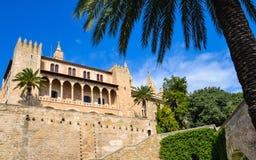 大教堂de mallorca palma西班牙 免版税图库摄影