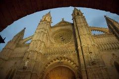 大教堂de mallorca palma 库存图片