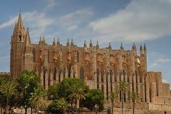 大教堂de mallorca palma 库存照片