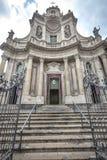 大教堂della Collegiata,卡塔尼亚 意大利 免版税库存照片