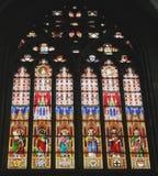 大教堂dom玻璃弄脏了 库存照片