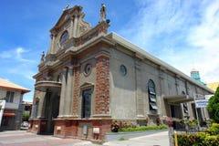 大教堂dumaguete 图库摄影