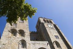 大教堂evora葡萄牙 免版税库存照片