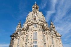大教堂Frauenkirche正面图在德累斯顿 库存图片