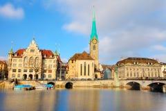 大教堂fraumuenster苏黎世 免版税图库摄影