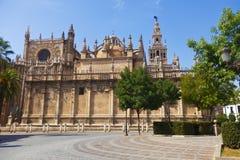 大教堂giralda塞维利亚西班牙 免版税库存图片