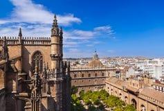 大教堂giralda la塞维利亚西班牙 图库摄影