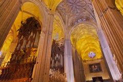 大教堂giralda la塞维利亚西班牙 免版税图库摄影