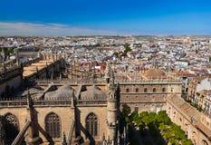 大教堂giralda la塞维利亚西班牙 免版税库存图片