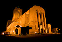 大教堂guildford晚上 免版税图库摄影