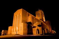 大教堂guildford晚上 免版税库存图片