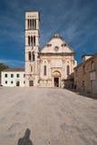 大教堂hvar的克罗地亚 库存照片