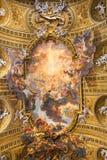 大教堂Il Gesu,罗马,意大利合唱  天花板视图 图库摄影