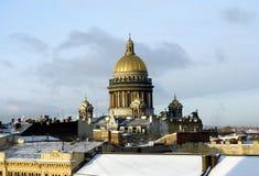 大教堂isaac圣徒 库存照片