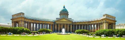 大教堂kazansky彼得斯堡st 免版税库存照片