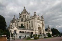 大教堂lisieux 图库摄影