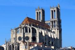 大教堂Mantes 库存照片