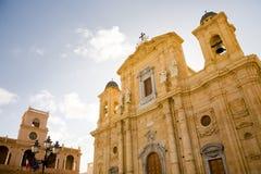 大教堂marsala西西里岛 库存图片