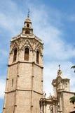 大教堂miguelete巴伦西亚 库存图片