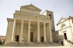 大教堂minore二圣马力诺diacono 库存照片
