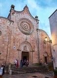 大教堂Minore Concattedrale二圣玛丽亚Assunta apulia意大利ostuni 库存照片