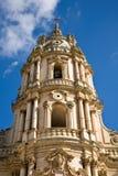 大教堂modica西西里岛塔 免版税图库摄影