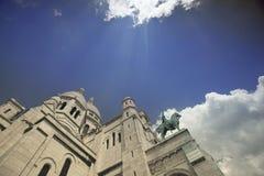 大教堂montmartre巴黎 免版税库存照片