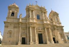 大教堂nicol noto圣・西西里岛 图库摄影