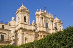 大教堂noto西西里岛 库存图片