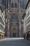 大教堂Notre Dame史特拉斯堡,法国 免版税库存图片