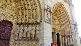 大教堂Notre Dame在巴黎 免版税库存照片
