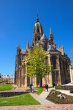 大教堂Notre Dame de巴约 古色古香的诺曼底罗马式大教堂位于诺曼底的巴约,卡尔瓦多斯部门 图库摄影