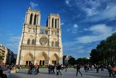 大教堂Notre Dame De巴黎 免版税库存照片