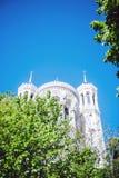 大教堂Notre Dame de Fourviere在利昂 库存图片