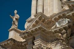 大教堂Ortigia, Siracuse,西西里岛的特殊性 免版税库存图片