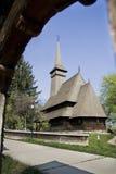 大教堂ortodox木头 免版税库存图片
