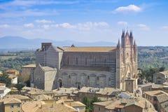 大教堂orvieto 免版税库存照片