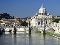 大教堂peters罗马圣徒 免版税库存图片