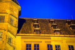 大教堂Rothenburg的屋顶 图库摄影
