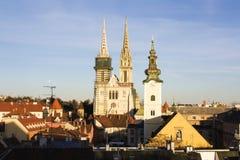 大教堂s萨格勒布 免版税库存图片