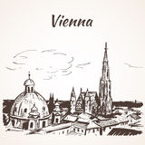 大教堂s st斯蒂芬・维也纳 向量例证