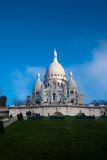 大教堂Sacre Coeur在巴黎法国 免版税库存图片