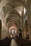 大教堂Sacre Coeur大教堂的内部在巴黎,法国 免版税库存照片