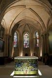 大教堂Sacre Coeur大教堂的内部在巴黎,法国 图库摄影