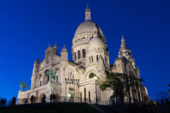 大教堂Sacre Coeur,巴黎,法国 库存照片
