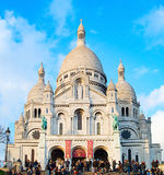 大教堂Sacre Coeur,巴黎 免版税库存照片