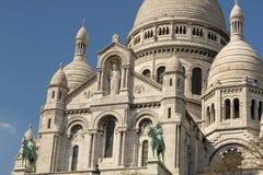 大教堂Sacre Coeur 免版税库存图片