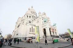 大教堂Sacre-Coeur 巴黎 库存照片