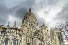 大教堂Sacre montmartre,巴黎,法国Coeur  免版税库存图片