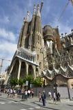 大教堂Sagrada Familia (=Holy家庭),巴塞罗那,西班牙 免版税库存图片